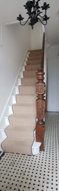 Hand crafted newel post